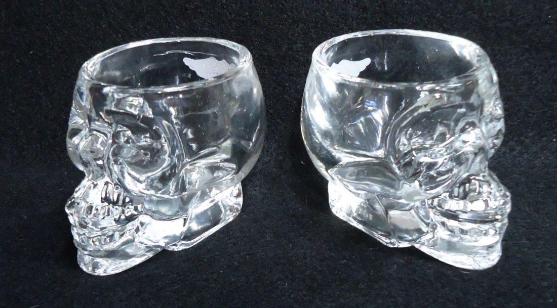 Pr. Modern Harley Davidson Skull Shot glasses - 2