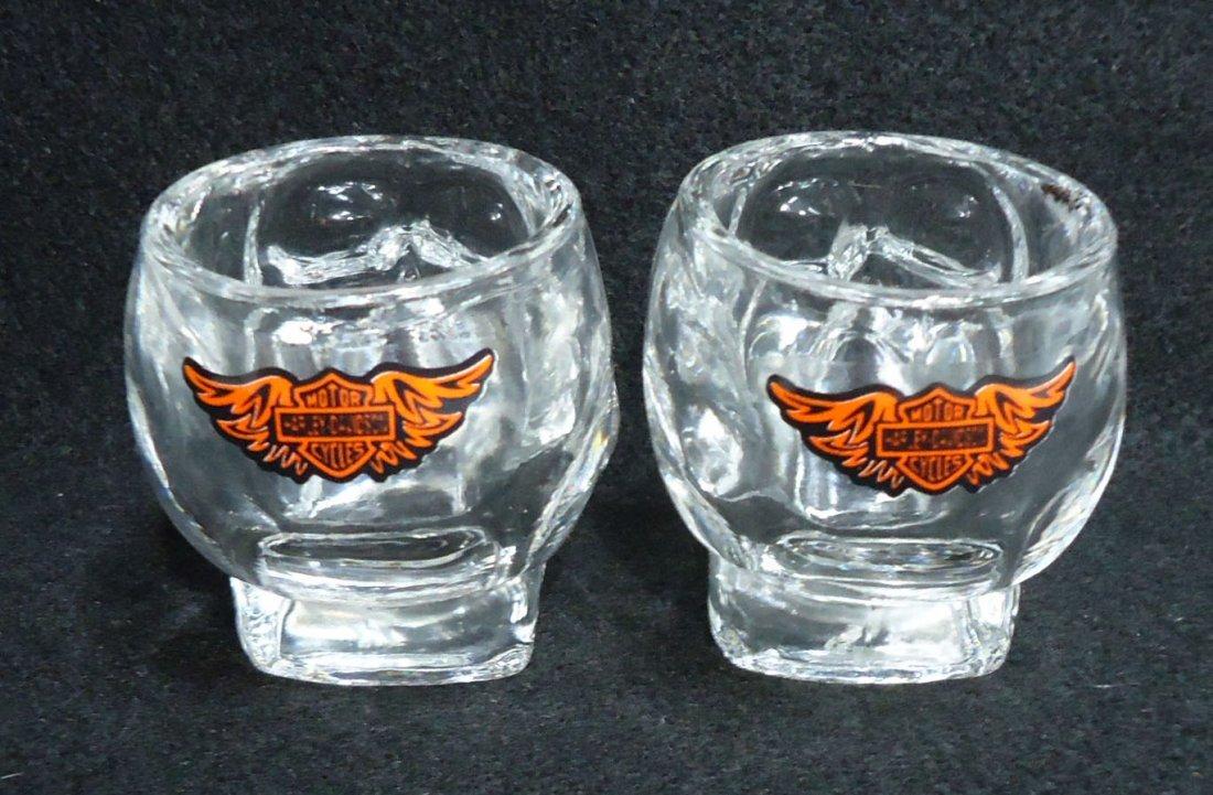 Pr. Modern Harley Davidson Skull Shot glasses - 3