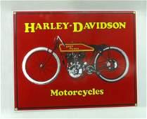 Modern Porc. Harley Davidson Motorcycle Sign