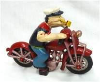 Modern C.I. Popeye Motorcycle Toy