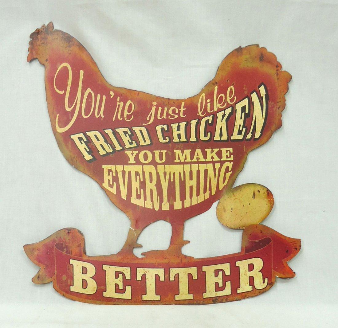 Tin Chicken Sign