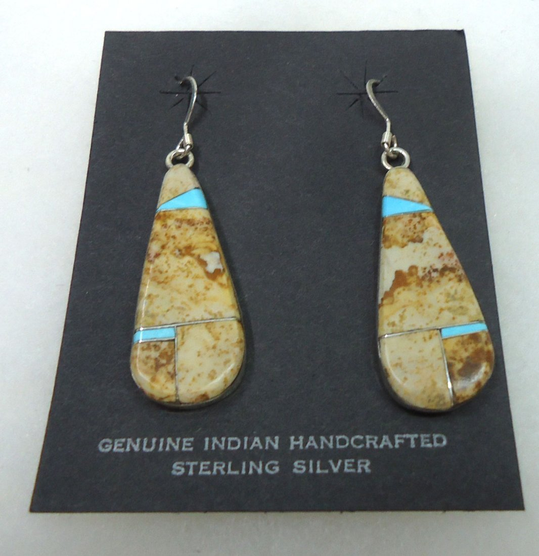Sterling & Jasper /Turq. Earrings