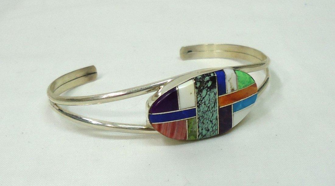 Sterling Inlaid Bracelet