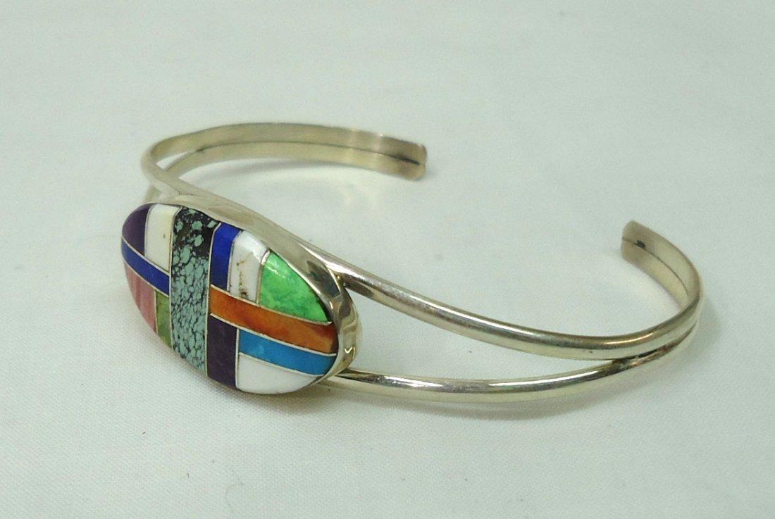 Sterling Inlaid Bracelet - 2