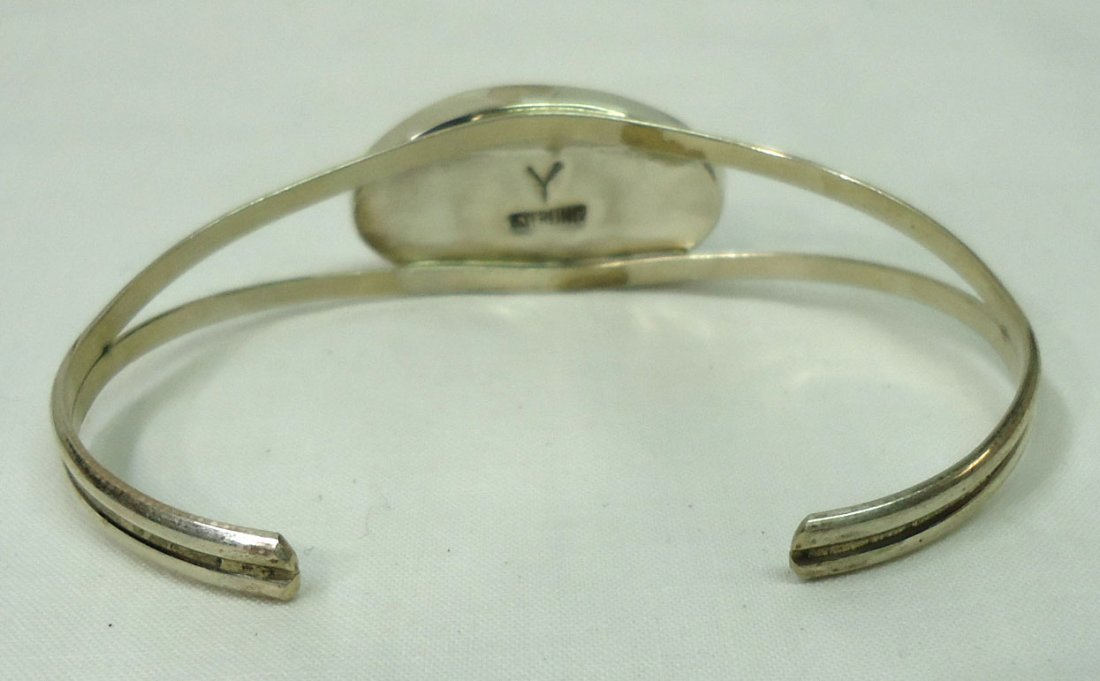 Sterling Inlaid Bracelet - 3