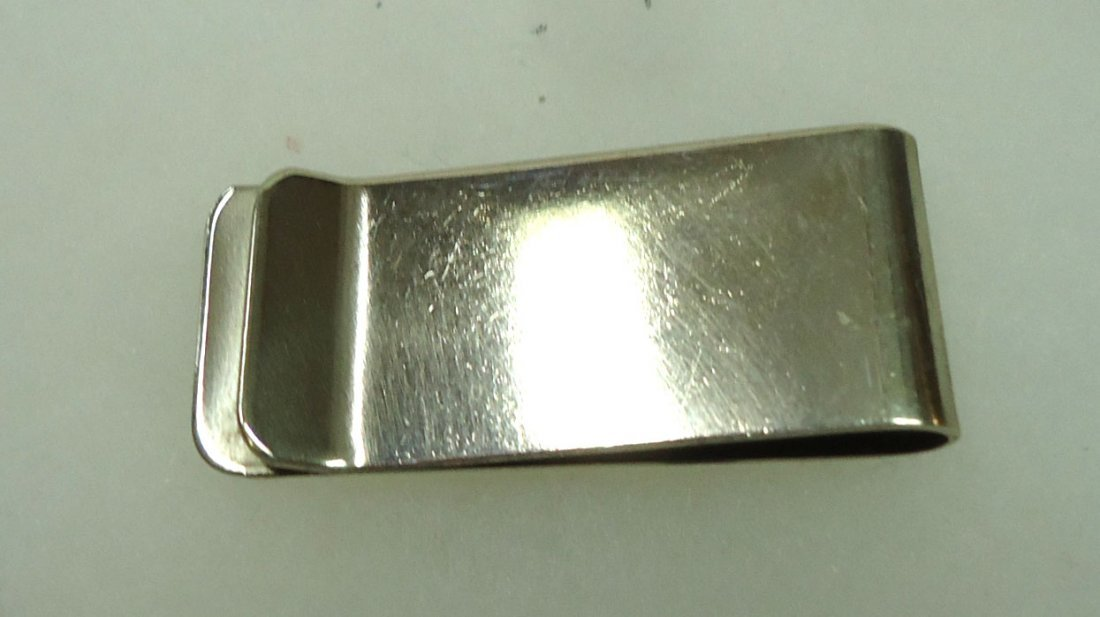 Sterling, Turq.,& Coral Money Clip - 2