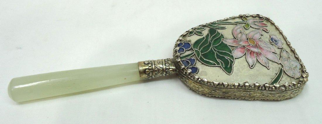 Oriental Enameled Hand Mirror - 2