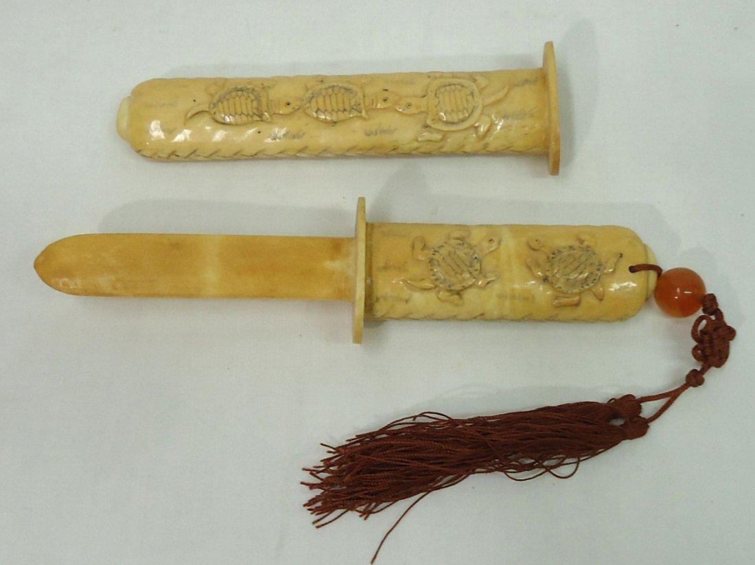 Oriental Carved Bone Letter Opener