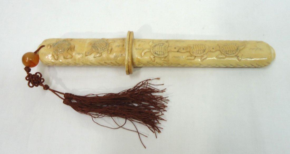Oriental Carved Bone Letter Opener - 4