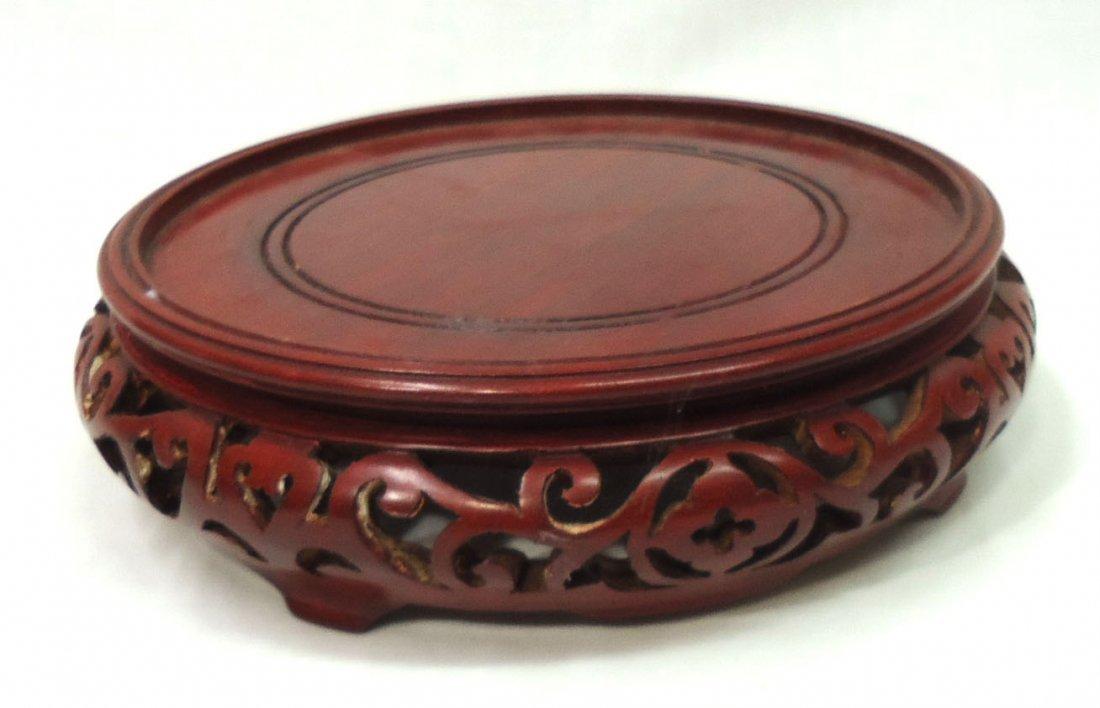 Oriental Carved Wood Pedestal /Riser