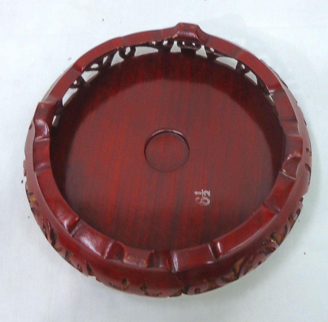 Oriental Carved Wood Pedestal /Riser - 3