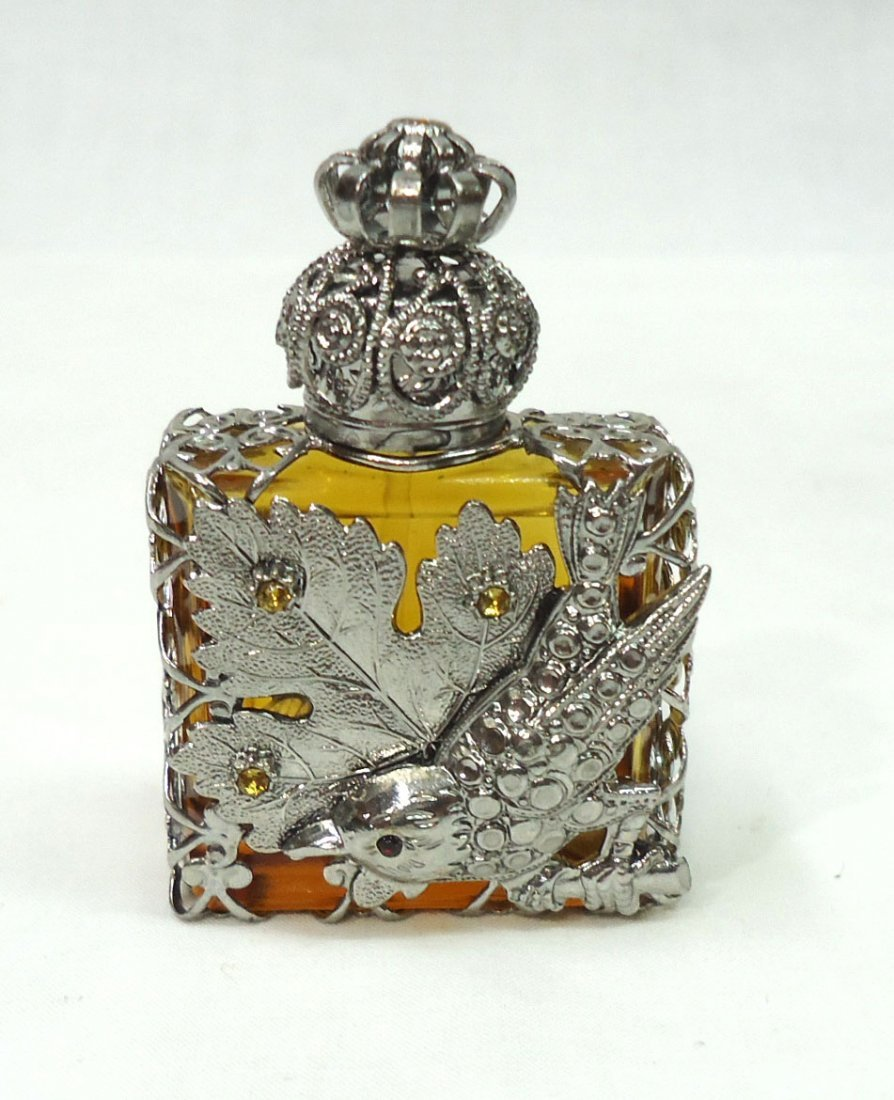 Oriental Perfume Bottle W/ Bird