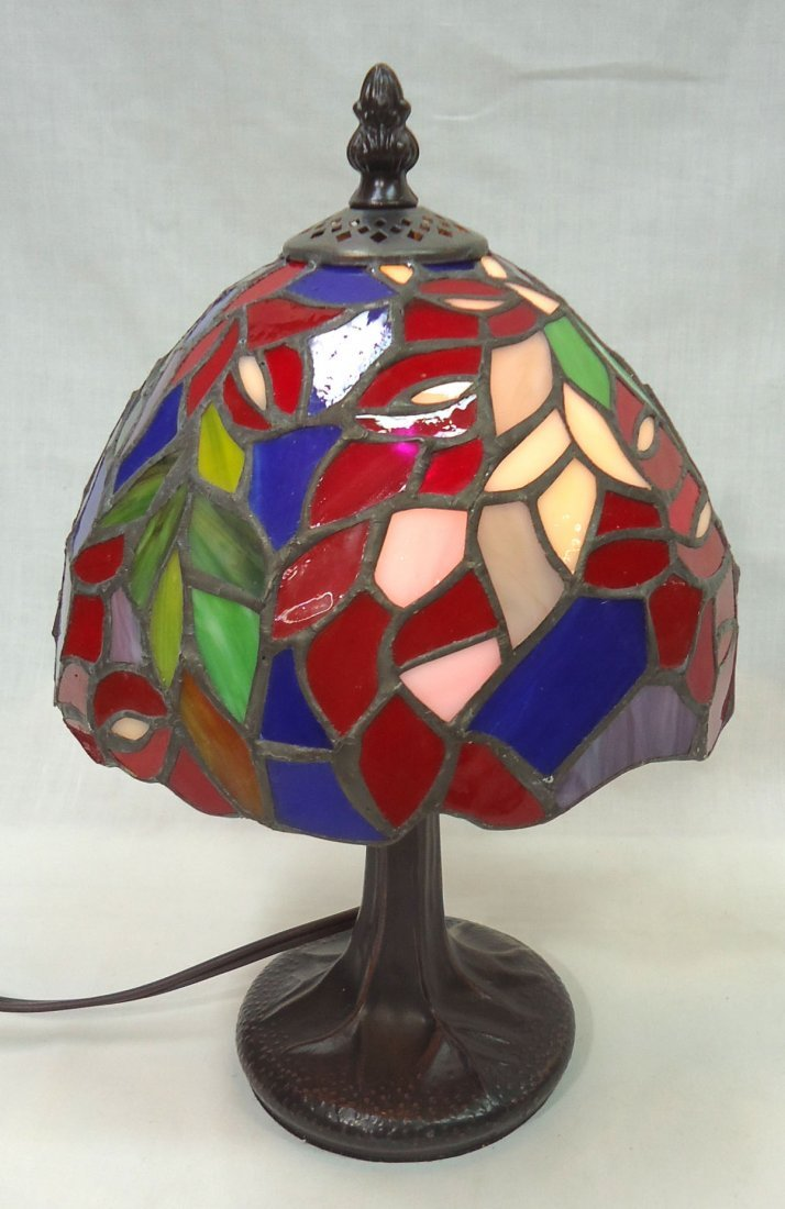 Leaded Glass Boudoir Lamp