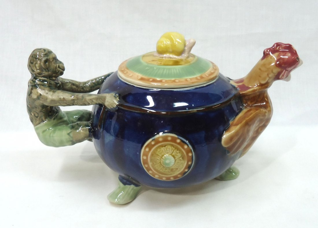 Modern Majolica Tea Pot - 2