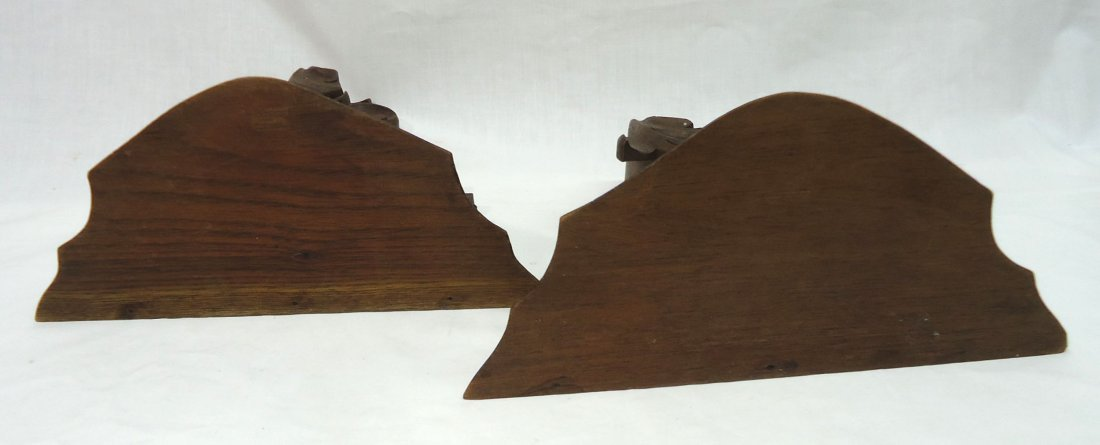 Pr. Carved Wood Victorian Wall Shelves - 4