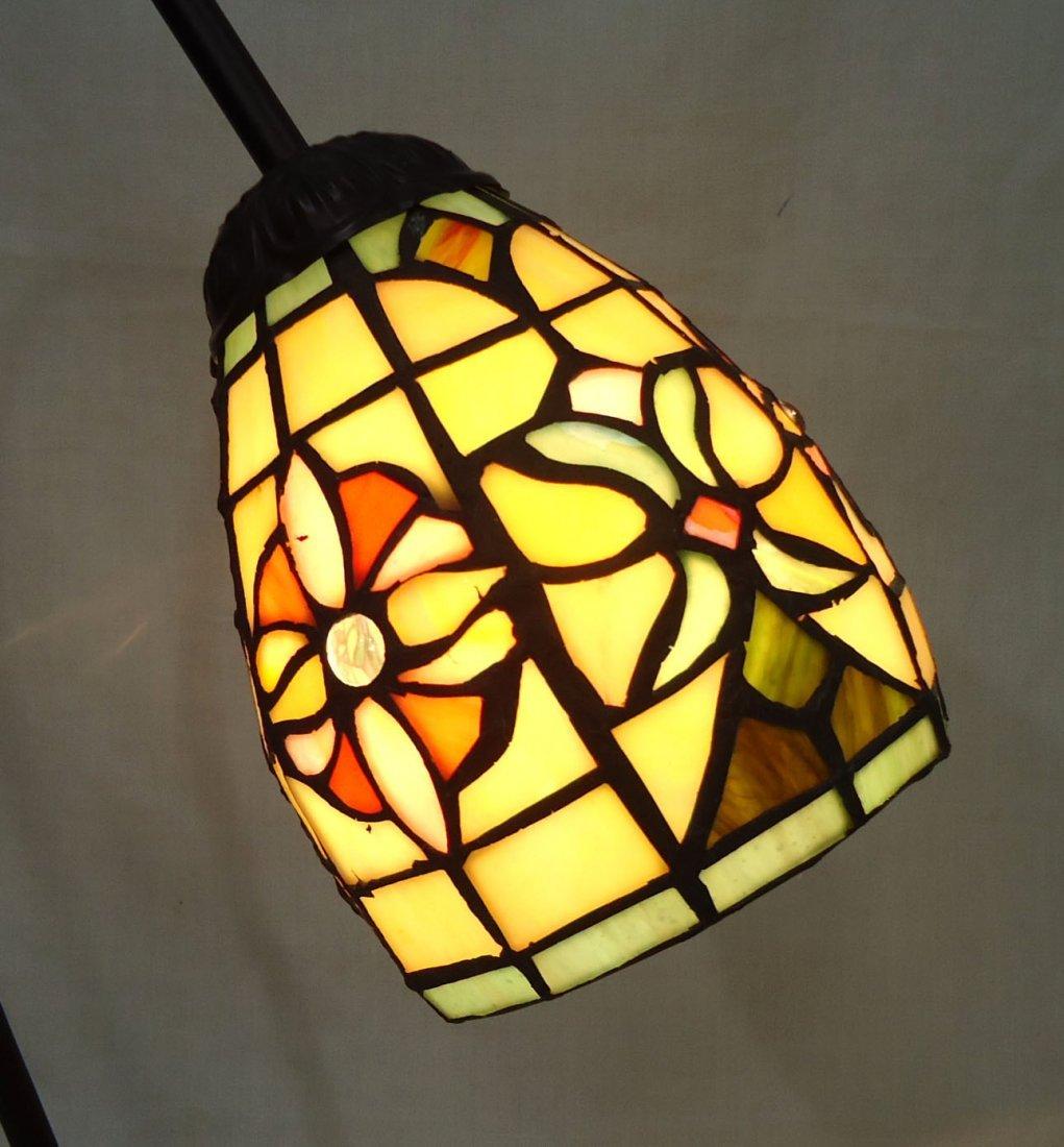 Desk Lamp W/ Leaded Glass Shade - 2