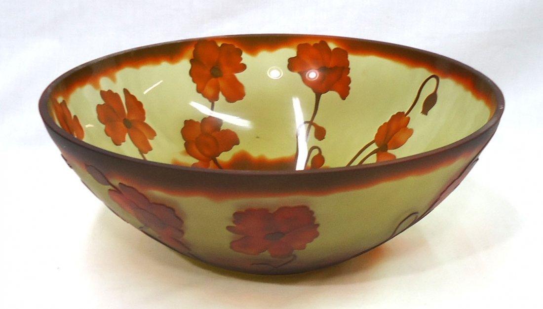 Lg. modern Galle Bowl