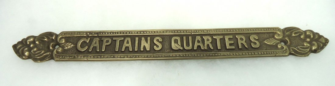 "Brass ""Captain's Quarters"" Sign"