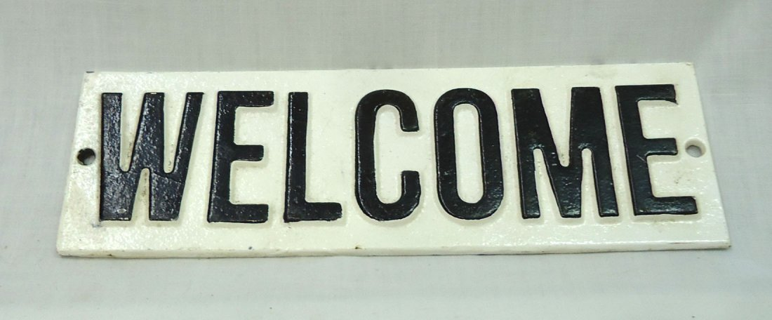 """C.I. """"Welcome"""" Sign"""