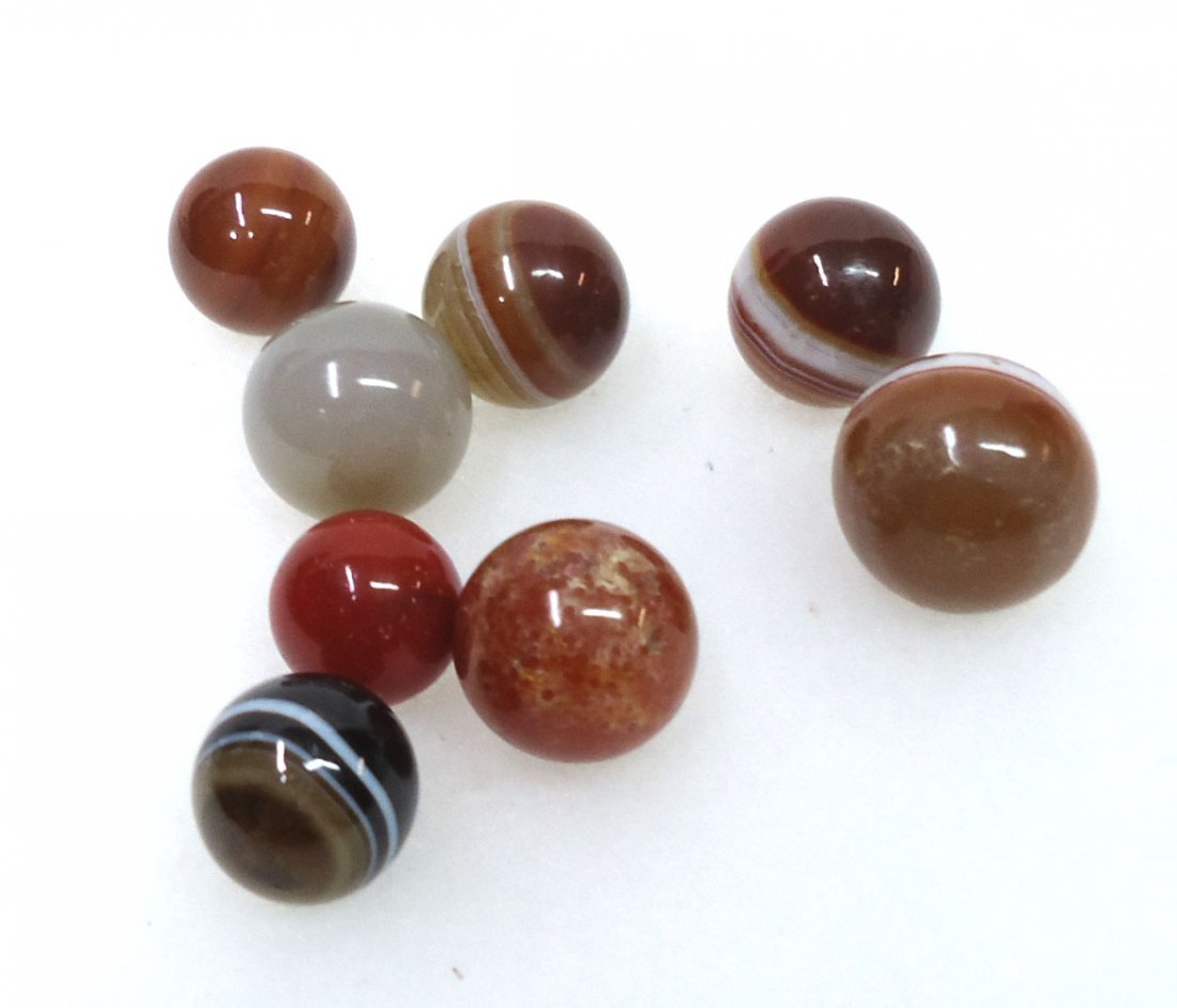 Lot of 8 Marbles