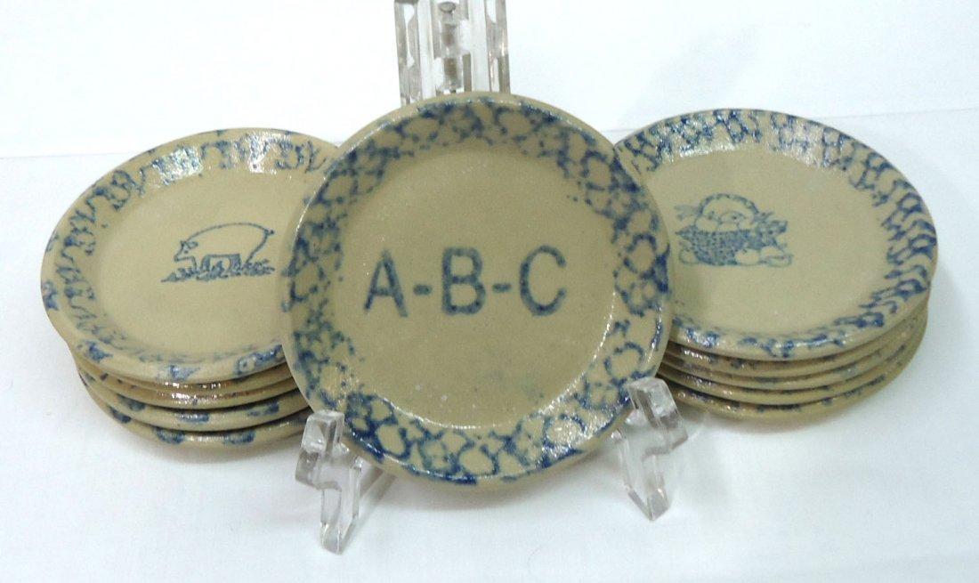 11 Spongeware Butter Pats
