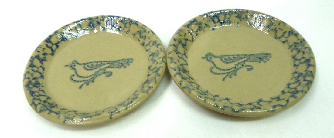 11 Spongeware Butter Pats - 3