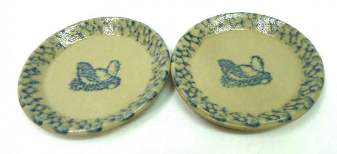 11 Spongeware Butter Pats - 4
