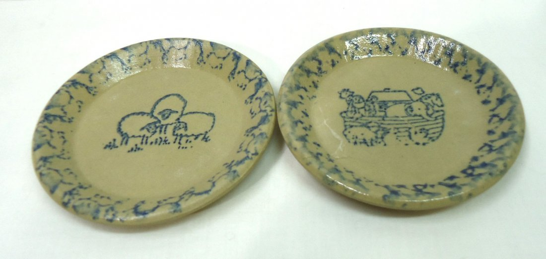 11 Spongeware Butter Pats - 5