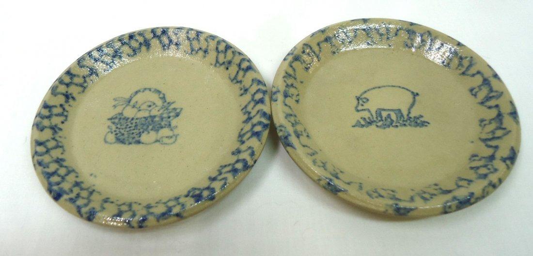 11 Spongeware Butter Pats - 6