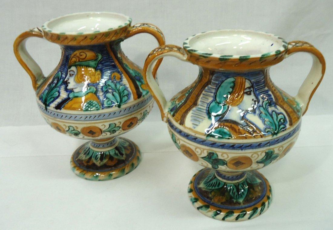 Pr. Italian Porcelain Vases