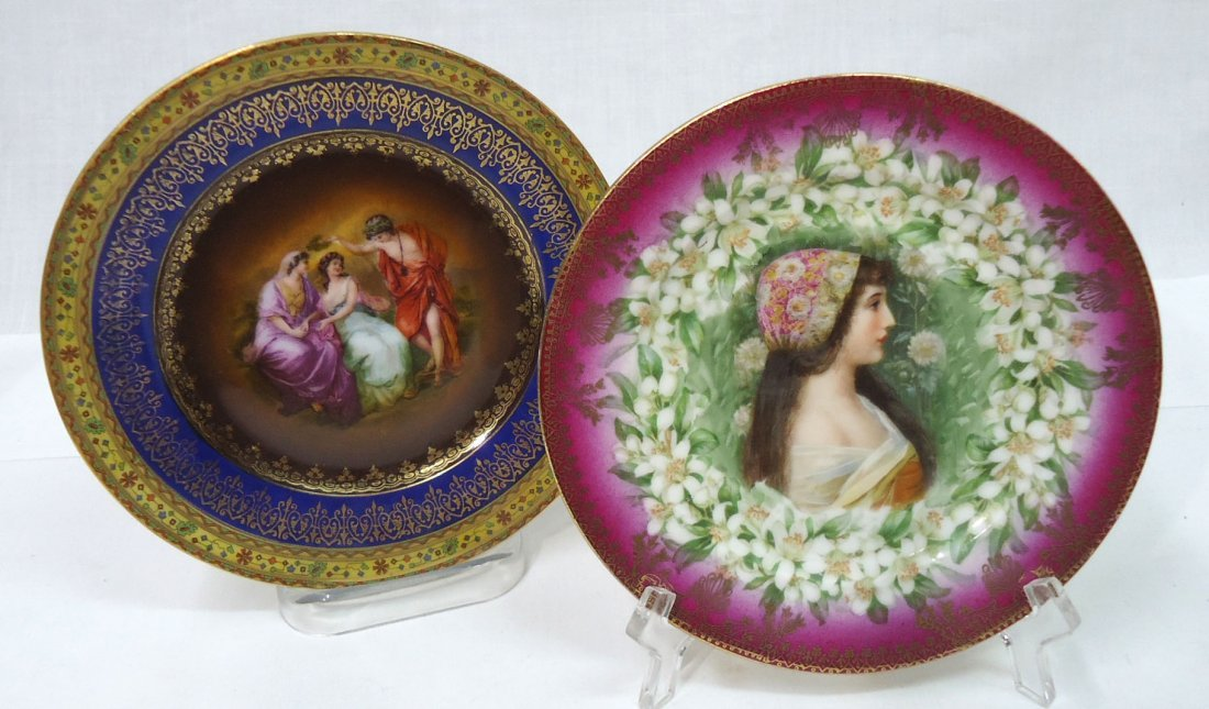 2 Czech & Austria Portrait Plates