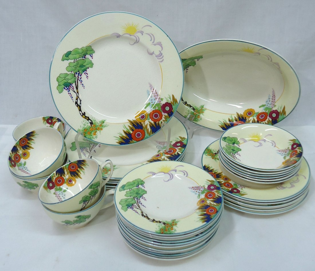 36 pc Wood's Ivory Ware