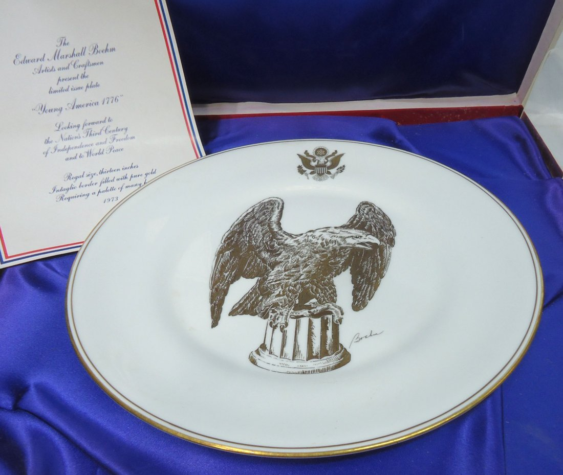 Boehm & Honor America Bicentennial Plate - 2