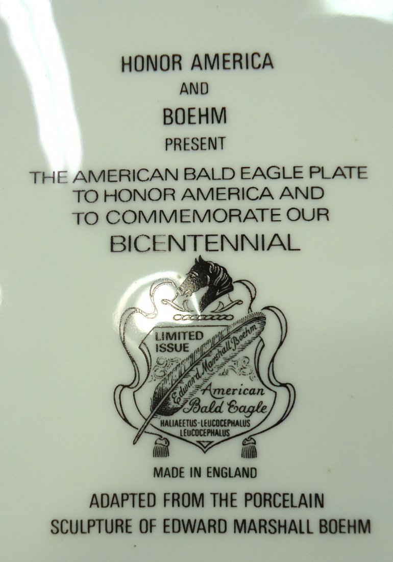 Boehm & Honor America Bicentennial Plate - 5