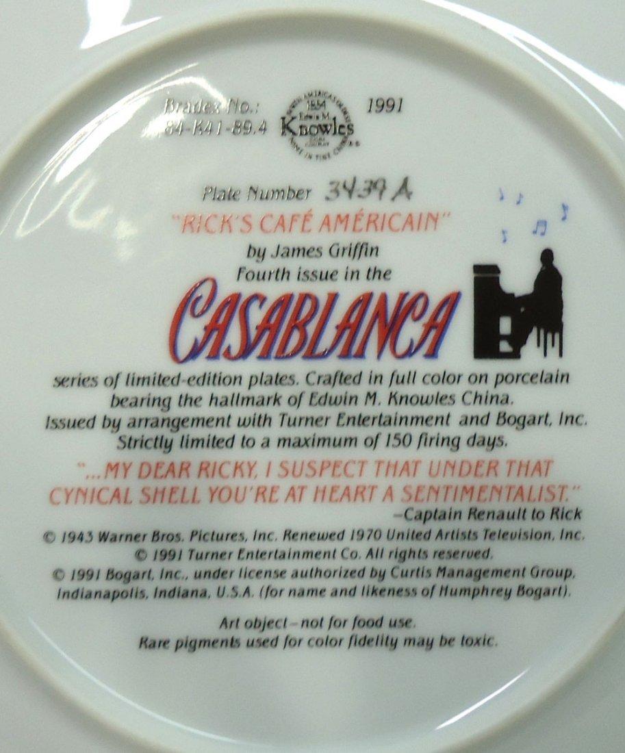 """Casablanca"" Comm. Plate - 4"