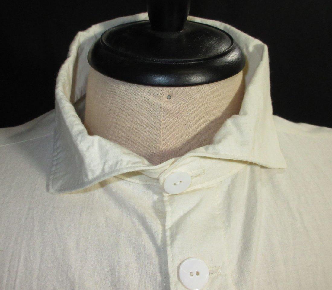 Civil War Reproduction Men's Muslin Shirt - 2