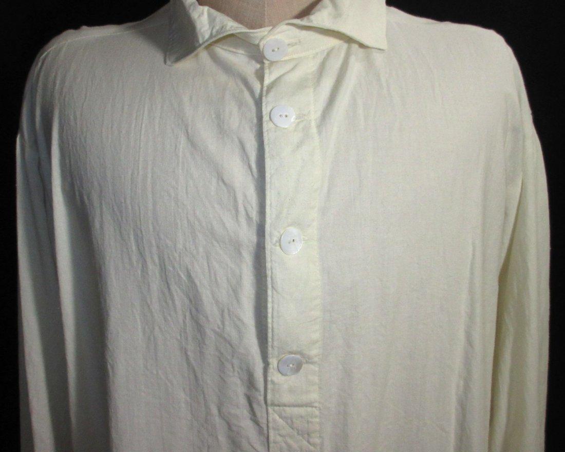 Civil War Reproduction Men's Muslin Shirt - 3