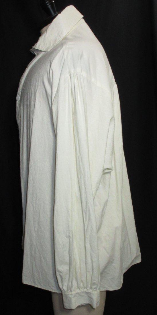 Civil War Reproduction Men's Muslin Shirt - 4