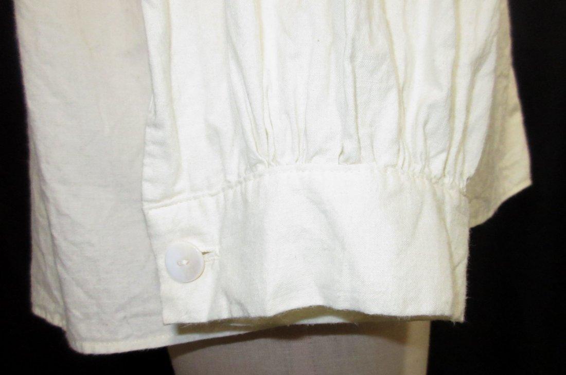 Civil War Reproduction Men's Muslin Shirt - 6