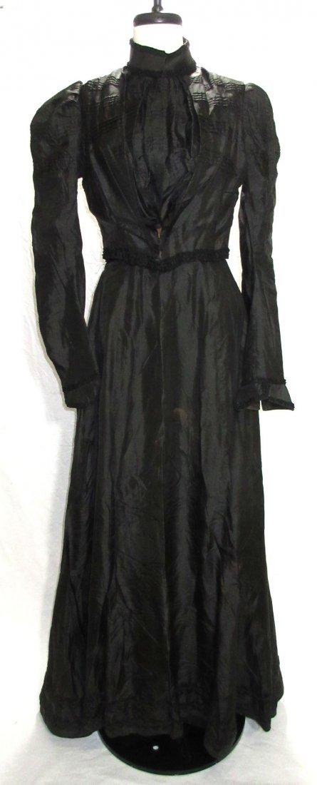 3 Pc. Black Victorian Mourning Dress