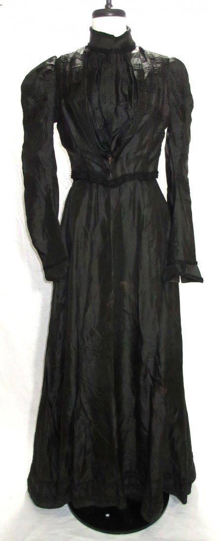 3 Pc. Black Victorian Mourning Dress