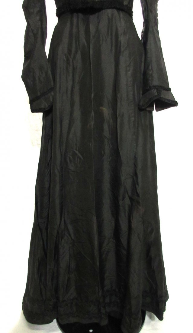 3 Pc. Black Victorian Mourning Dress - 3