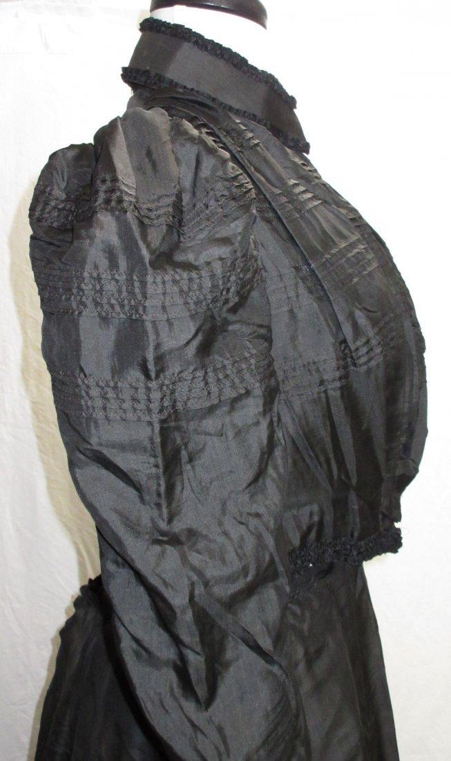 3 Pc. Black Victorian Mourning Dress - 5