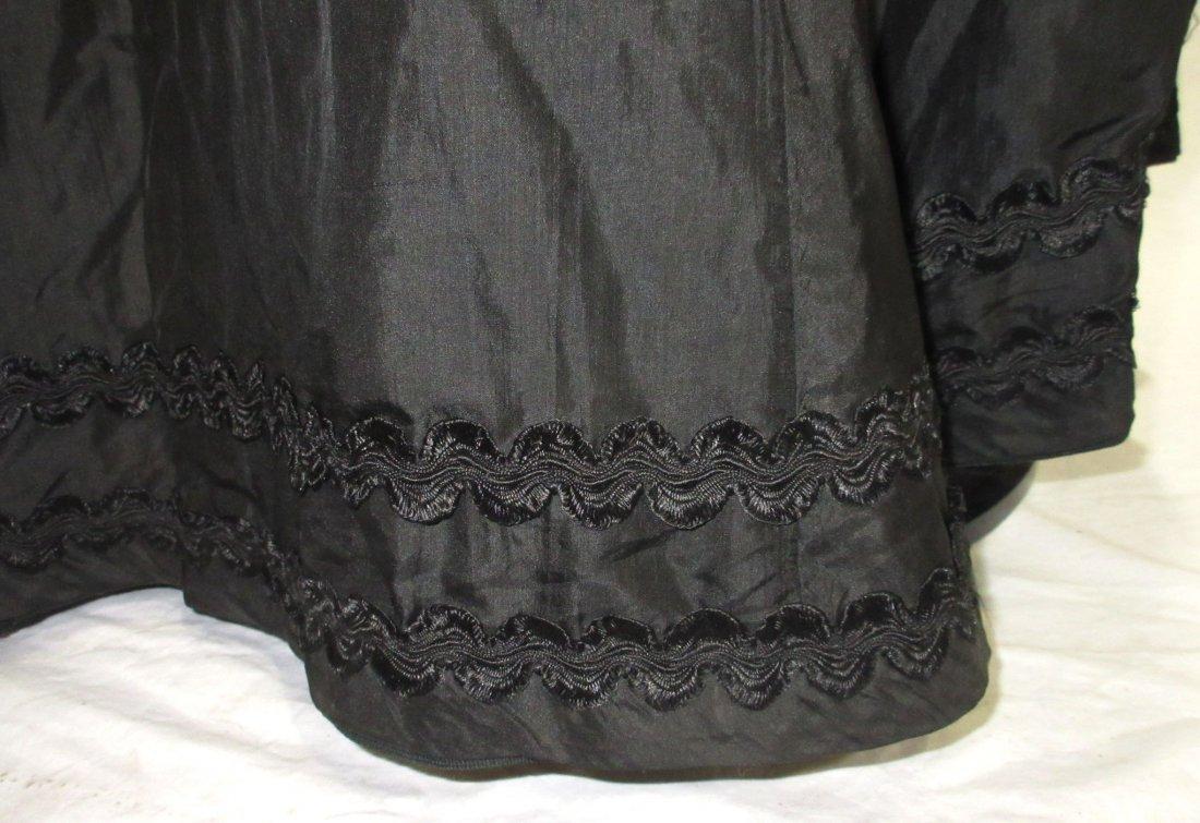 3 Pc. Black Victorian Mourning Dress - 6
