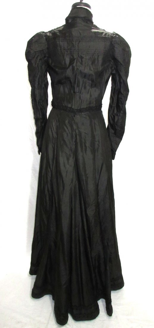 3 Pc. Black Victorian Mourning Dress - 7
