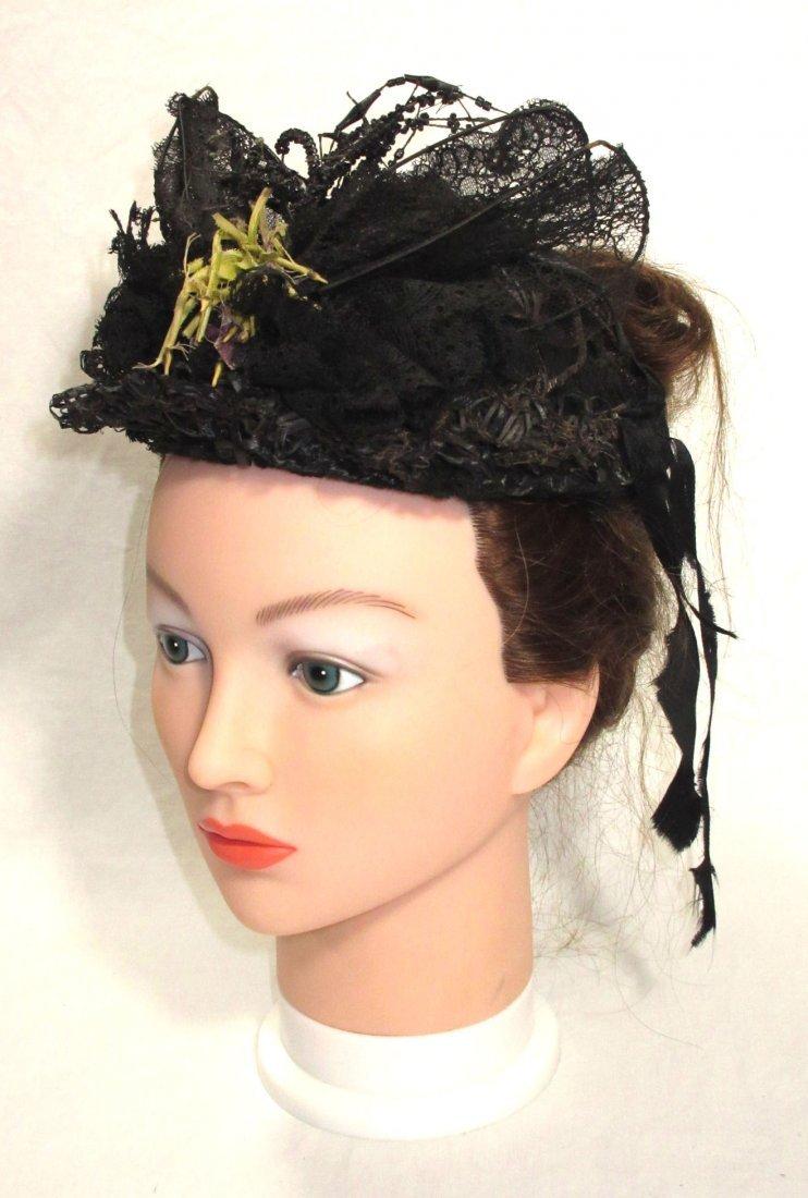 Mid-Victorian, Civil War Mourning Hat