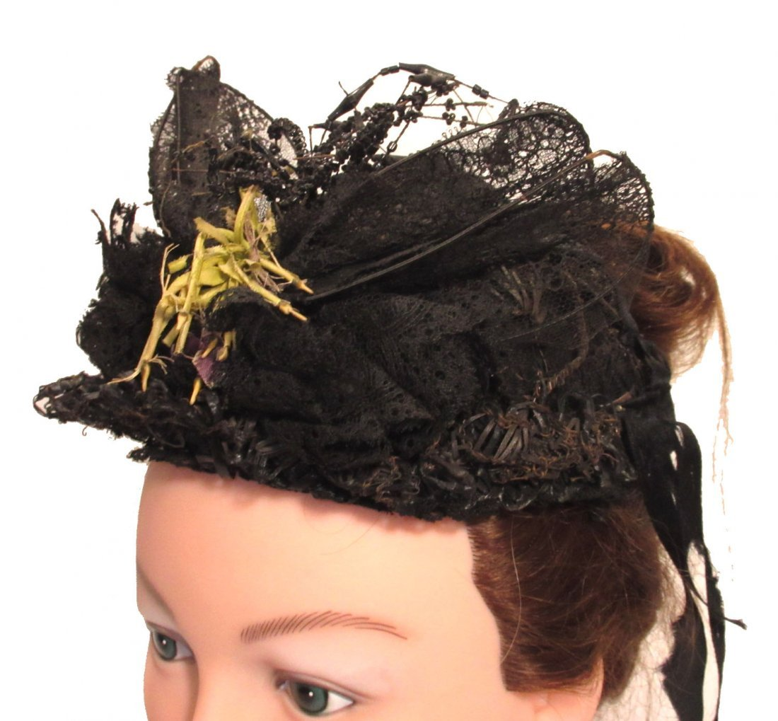 Mid-Victorian, Civil War Mourning Hat - 2