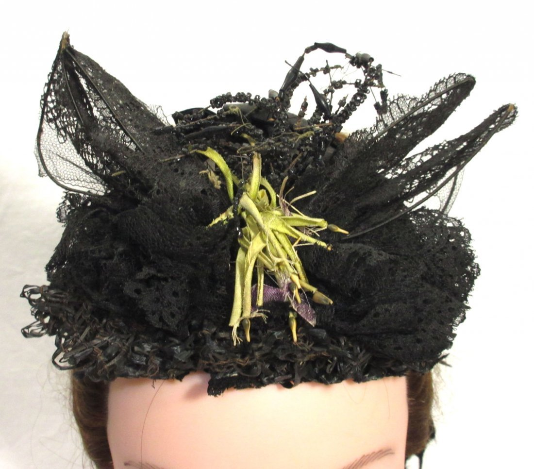 Mid-Victorian, Civil War Mourning Hat - 3