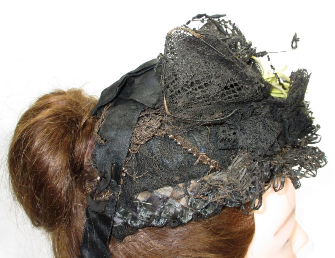 Mid-Victorian, Civil War Mourning Hat - 4