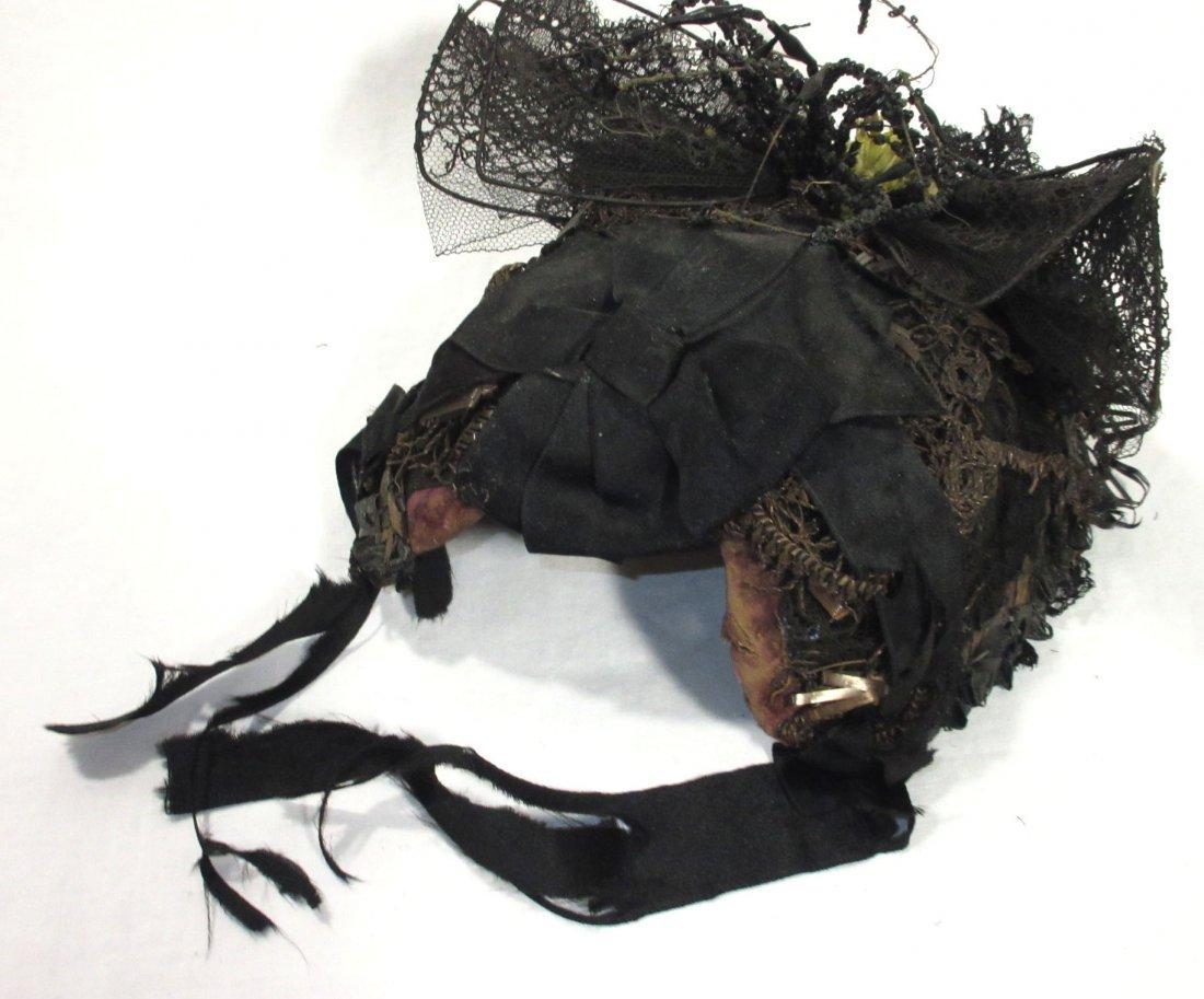 Mid-Victorian, Civil War Mourning Hat - 5